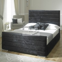 Athena Velvet Fabric Upholstered Bed Frame
