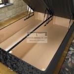 Jacob Ottoman End Lift Fabric Storage Divan Bed Base