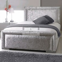 Alice Luxury Crushed Velvet Upholstered Bed Frame
