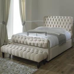 Rosaline Luxury Fabric Upholstered Bed Frame