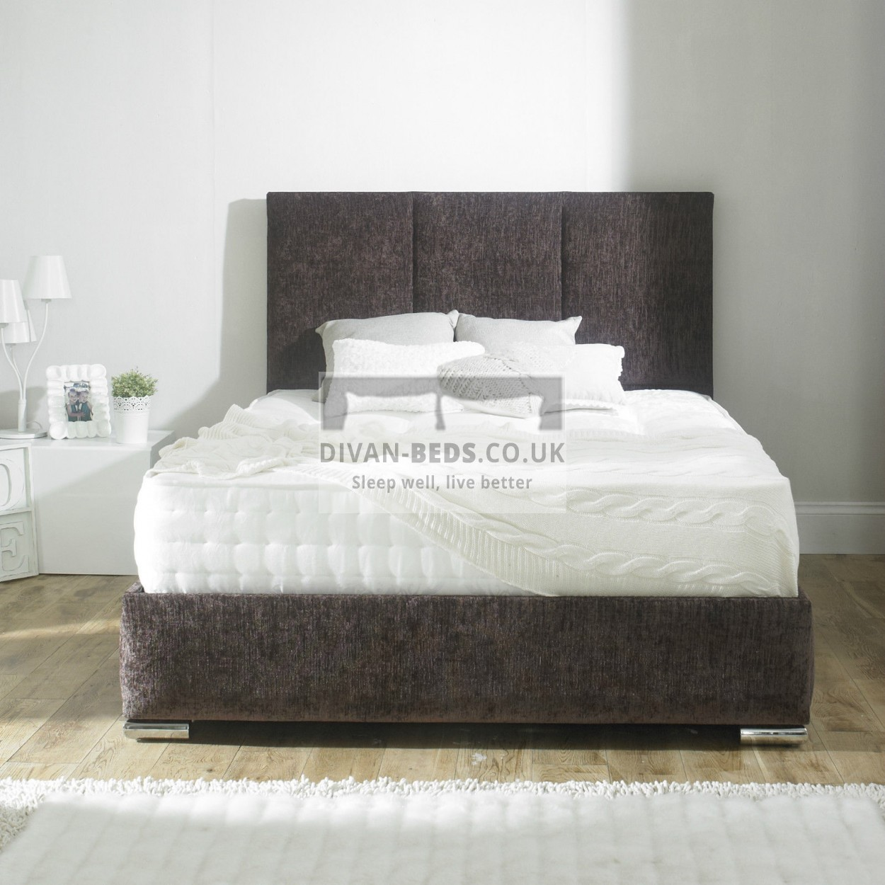 Talia fabric upholstered bed frame guaranteed cheapest for Upholstered bed frame