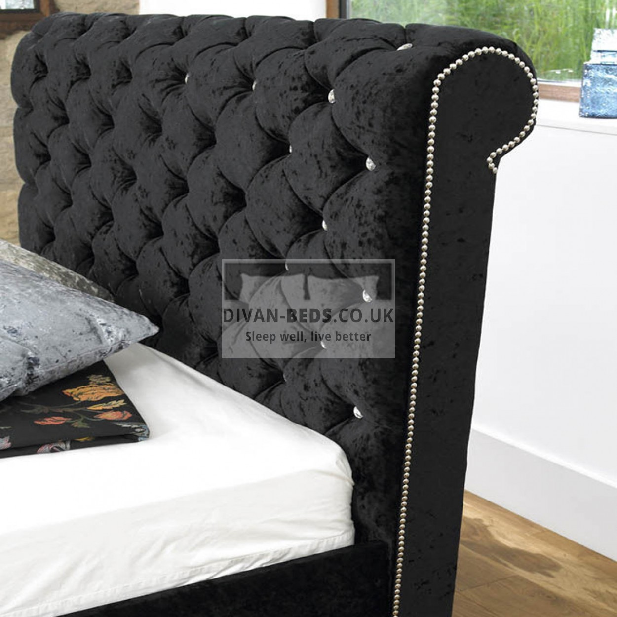 Ellis Luxury Fabric Upholstered Bed Frame Guaranteed