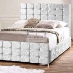 Marla Luxury Crushed Velvet Fabric Upholstered Bed Frame