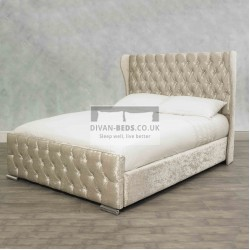 Fiona Winged Luxury Storage Fabric Bed Frame