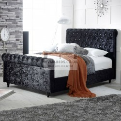 Marietta Sleigh Luxury Storage Fabric Bed Frame