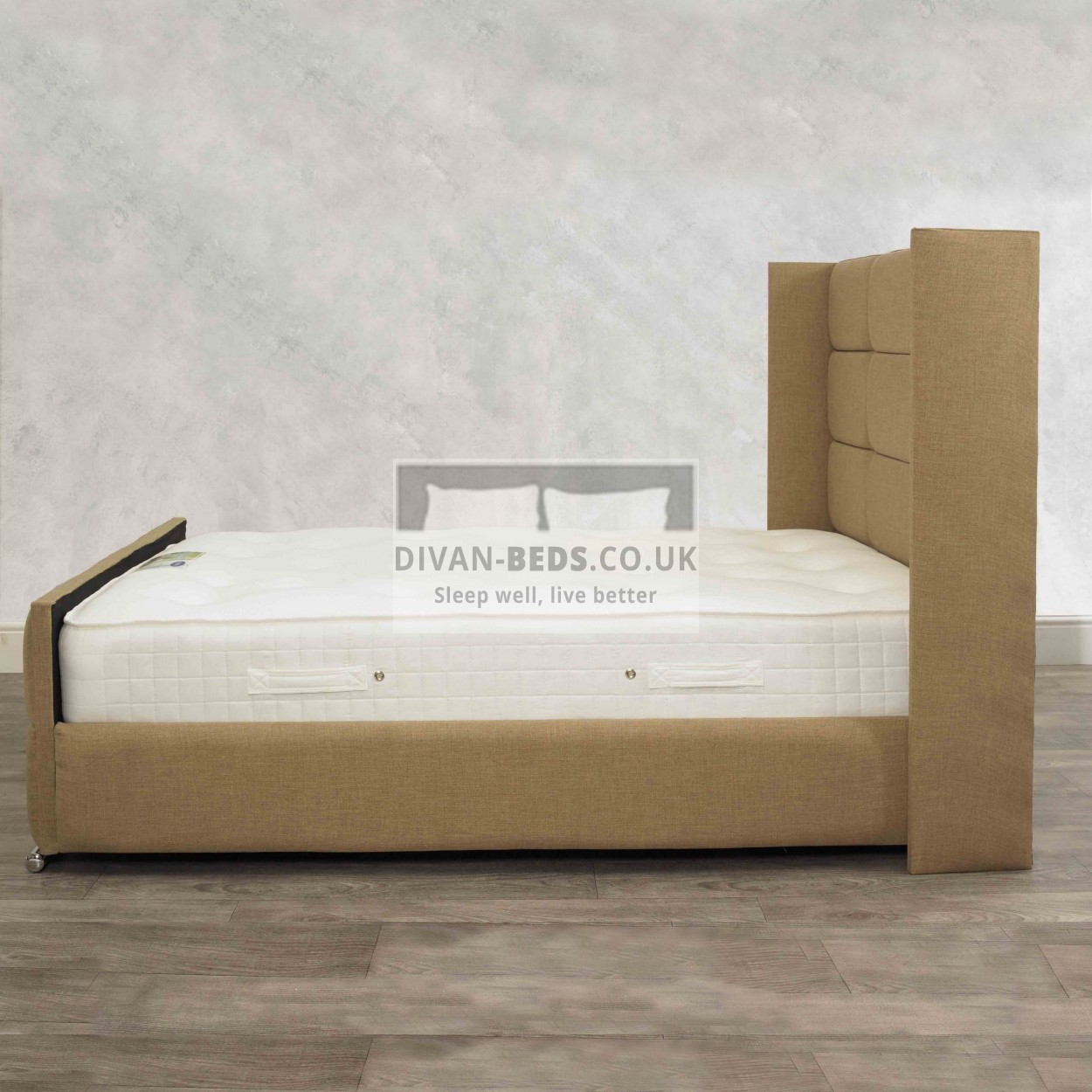 Davinio winged luxury storage bed frame guaranteed for Divan bed frame penang