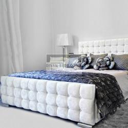 Sofia Luxury Crushed Velvet Fabric Upholstered Bed Frame