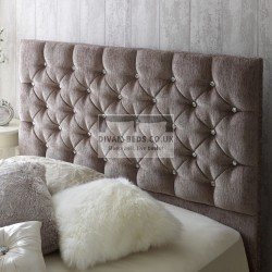 Dina Diamonte Fabric Upholstered Floor Standing Divan Headboard