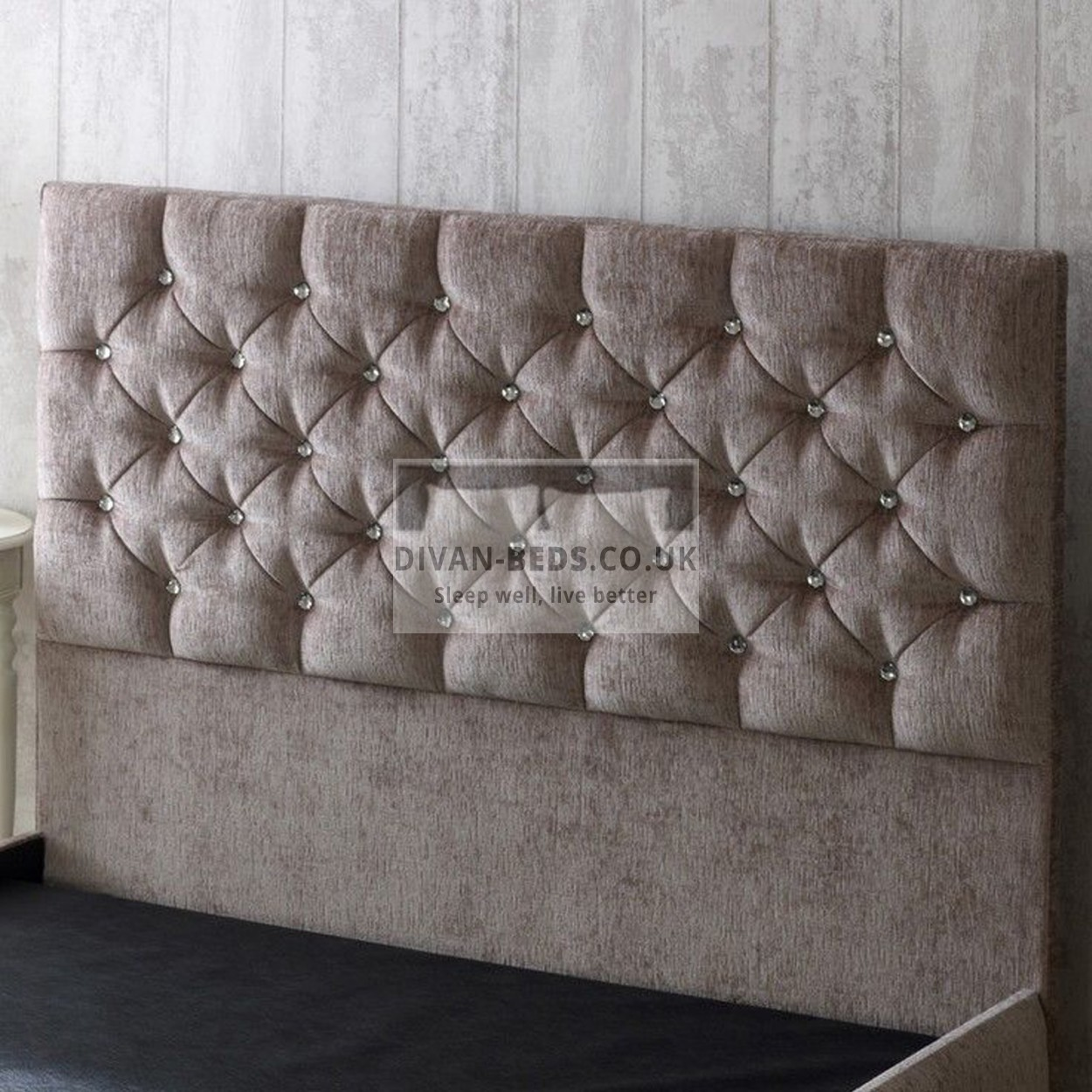 Clara fabric upholstered floor standing divan headboard for Divan headboard