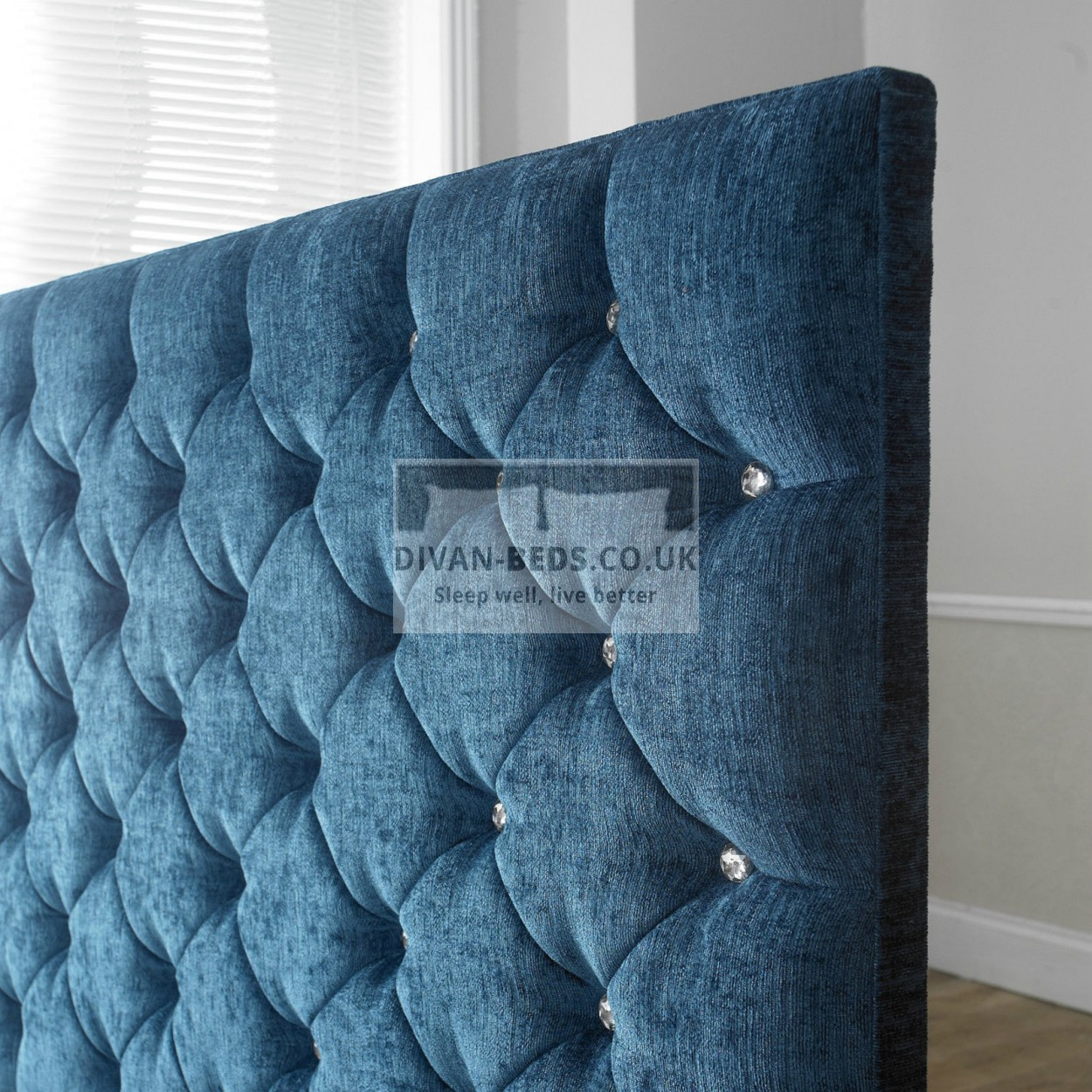 Grandeur fabric upholstered floor standing divan headboard for Divan upholstered bed