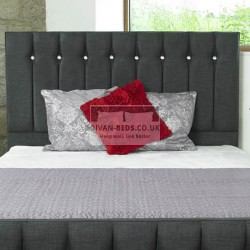 Annette Diamond Fabric Floor Standing Divan Headboard