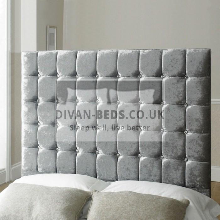 Elmira Velvet Upholstered Floor Standing Divan Headboard