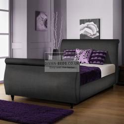 Tara Fabric Upholstered Sleigh Bed Frame