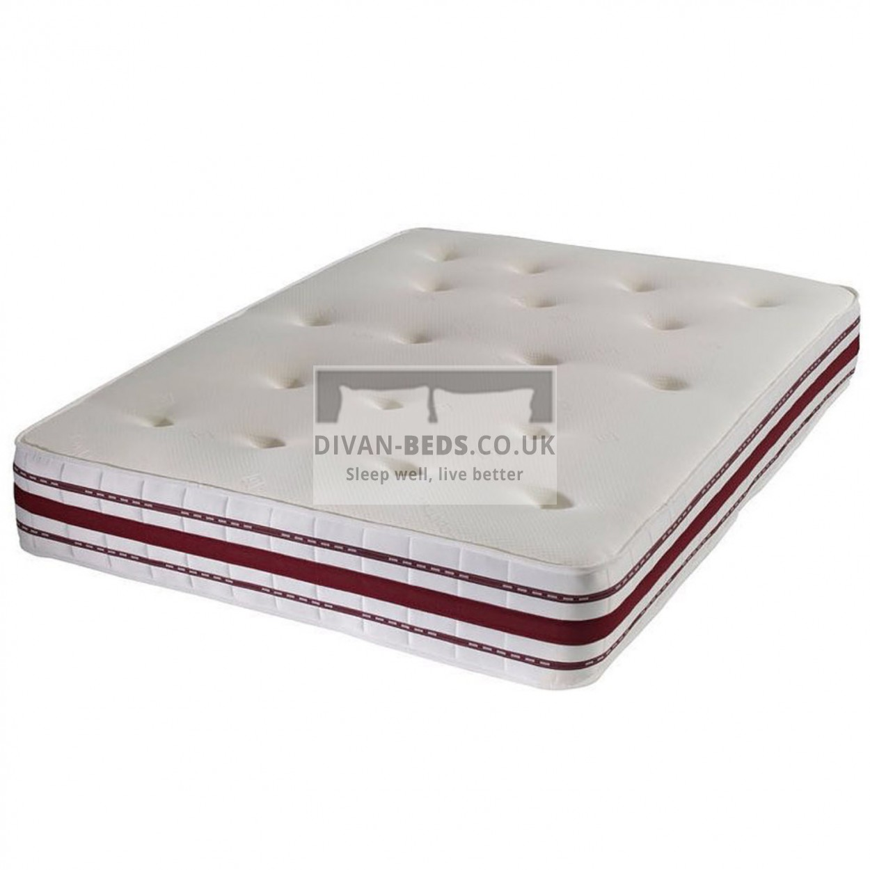 pocket spring high density memory foam mattress with airflow features