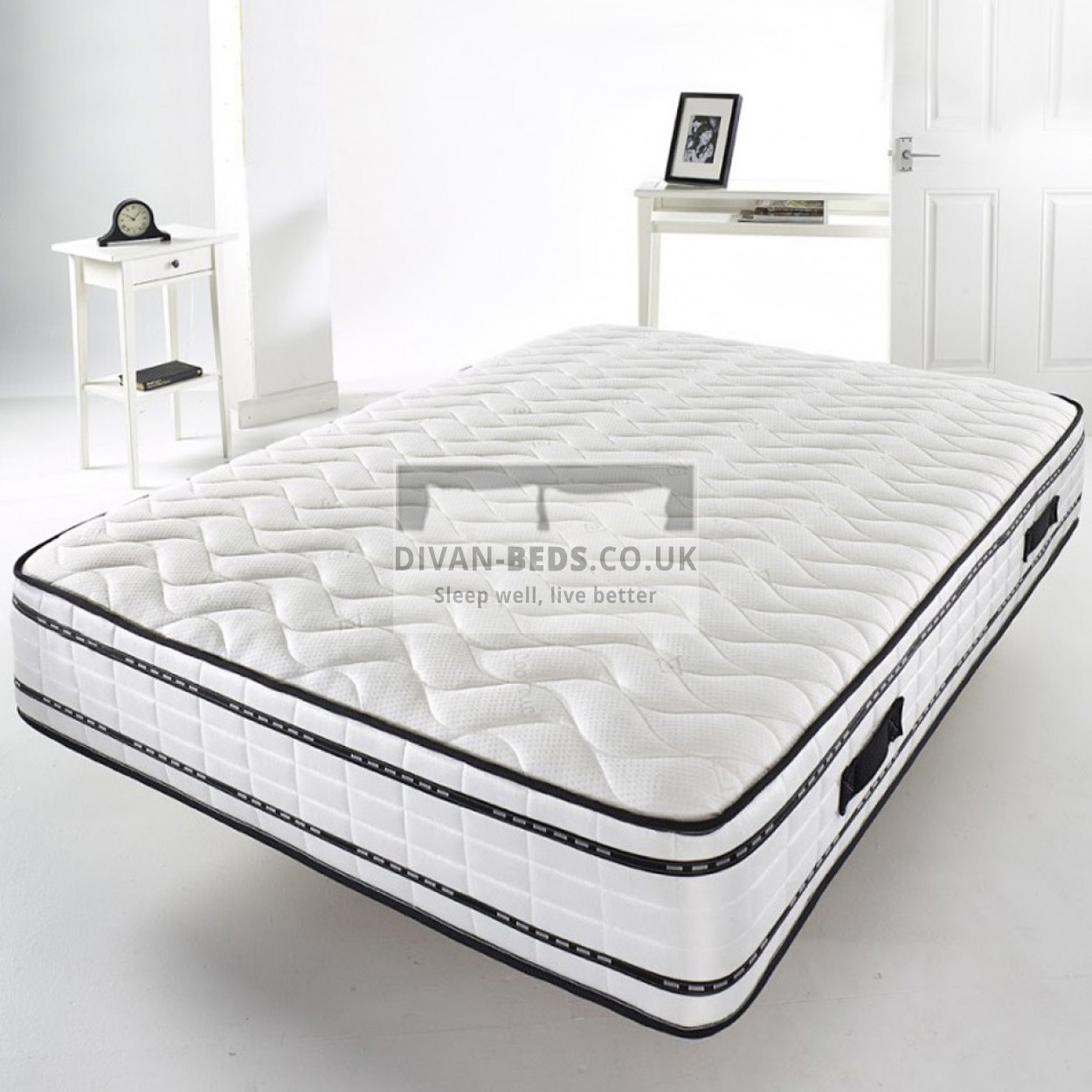 2000 pocket spring quilted memory foam mattress with. Black Bedroom Furniture Sets. Home Design Ideas