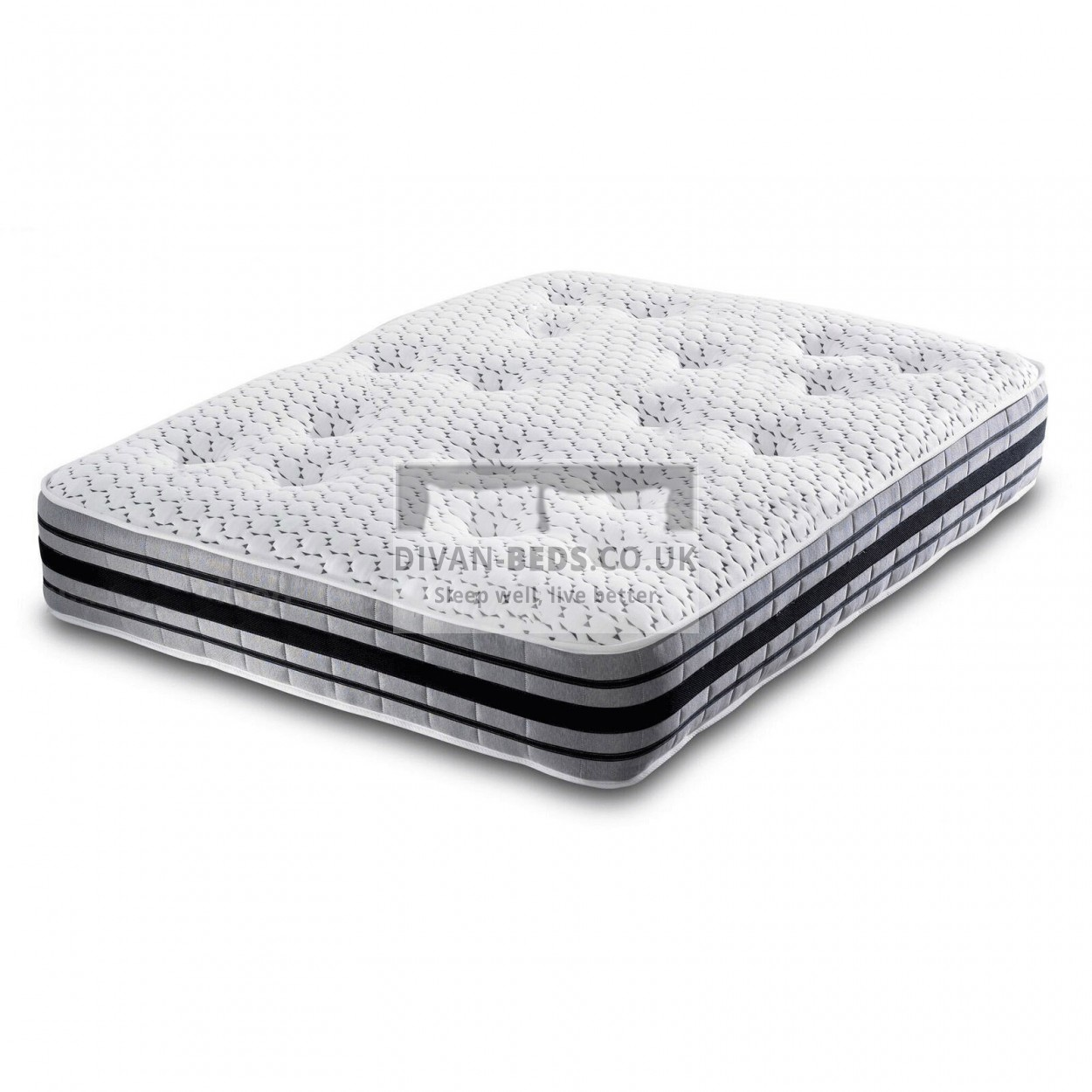 3000 pocket spring organic quilted memory foam mattress for Bed tech 3000