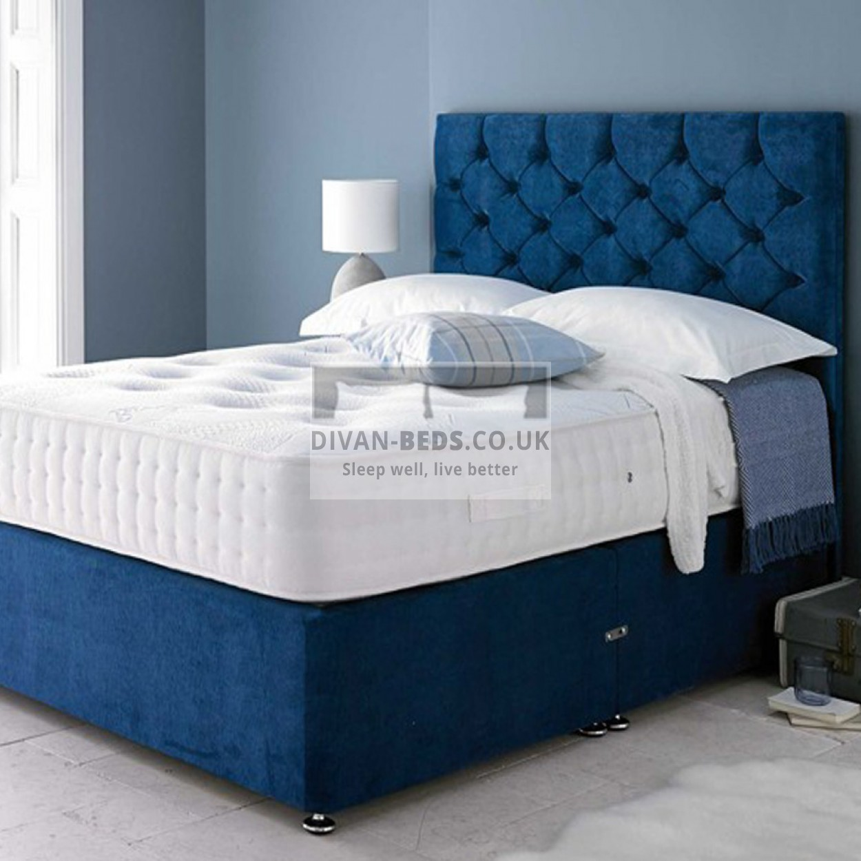 Luxury ottoman beds luxury chenille ottoman divan for White single divan