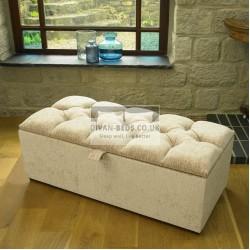 Elika Fabric Upholstered Ottoman Storage Box and Stool
