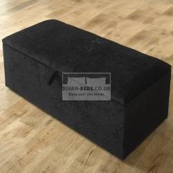 Original Fabric Upholstered Ottoman Storage Box and Stool