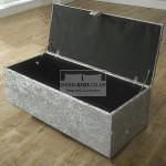Leya Cube Fabric Upholstered Ottoman Storage Box and Stool