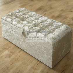 Raelyn Fabric Upholstered Ottoman Storage Box and Stool