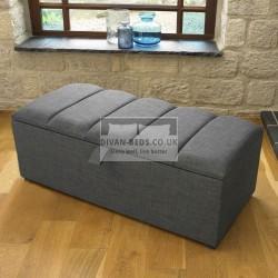 Amberlyn Fabric Upholstered Ottoman Storage Box and Stool