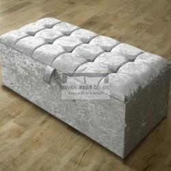 Elmira Fabric Upholstered Ottoman Storage Box and Stool