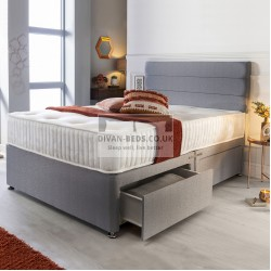 Benedict Modern Grey Divan with Spring Memory Mattress