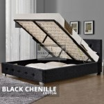 Eloise Ottoman Gas Lift Fabric Storage Bed Frame - Next Day
