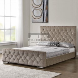 Calandra Diamonte Fabric Upholstered Bed Frame