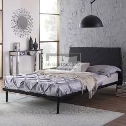 Minimalist Modern Linen Upholstered Bed Frame