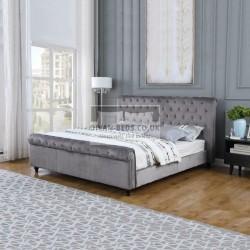 Genevieve Grey Velvet Velour Bed Frame