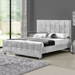 Nasira Luxury Crushed Velvet Upholstered Bed Frame