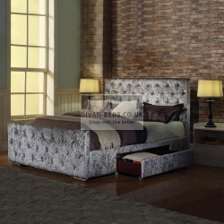 Sherilyn 2 Drawers Luxury Crushed Velvet Bed Frame