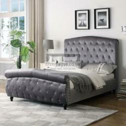 Gabrielle Velvet Velour Bed Frame