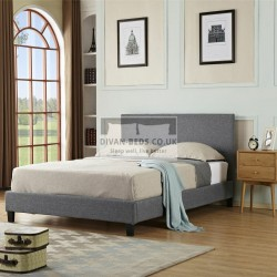 Perla Modern Italian Grey Fabric Bed Frame