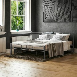 Dravos Grey Metal Bed Frame