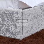 Ramona Silver Crushed Velvet Ottoman Bed Frame