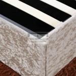 Ramona Oyster Crushed Velvet Ottoman Bed Frame