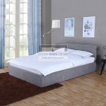 Kayson Light Grey Linen Ottoman Bed Frame