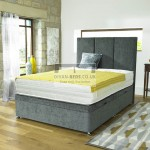 Ethan Ottoman Storage Side Gas Lift Fabric Divan Bed Base