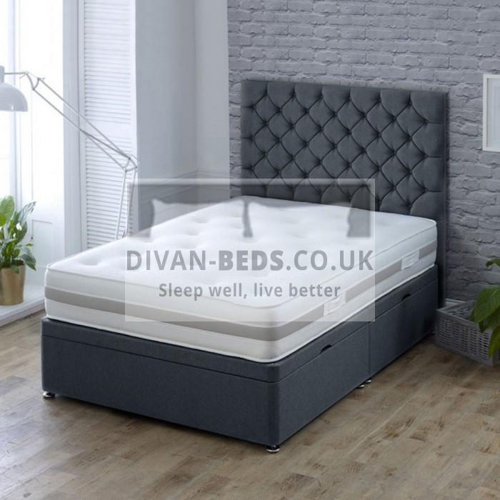 Fiona Luxury Ottoman Divan Bed with Floor Standing Headboard