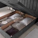 Amberlyn Luxury Ottoman Divan Bed with Floor Standing Headboard