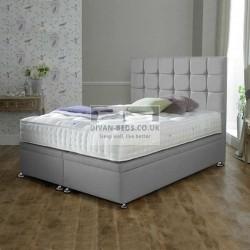 Leya Luxury Ottoman Divan Bed with Floor Standing Headboard