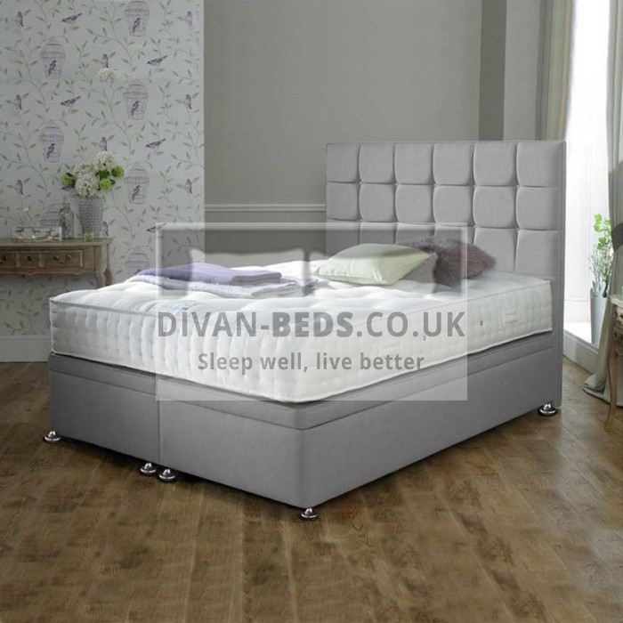 Leya Luxury Ottoman Divan Bed with Floor Standing Headboard