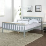 Elyne Grey Wooden Bed Frame