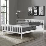 Nicoline White Wooden Bed Frame