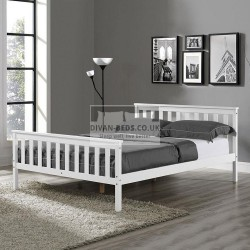 Nicoline White Wooden Bed Frame