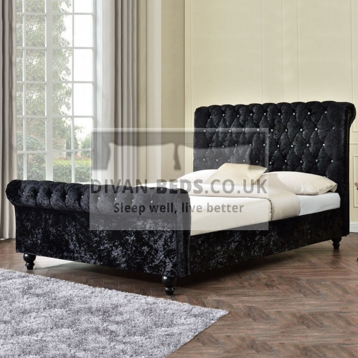 Carolyn Fabric Upholstered Bed Frame