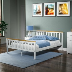 Sienna Pine Wood Bed Frame